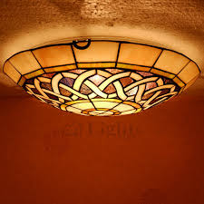 stained glass ceiling light fixtures country style three light e27 tiffany flush mount ceiling lights