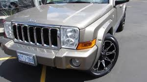 commander jeep 2010 2010 jeep commander riding on 20 inch off road rims u0026 tires youtube