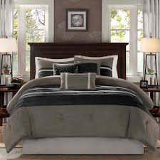 Microsuede Duvet Cover Queen Palmer Dakota 7 Piece Comforter Set By Madison Park Hayneedle