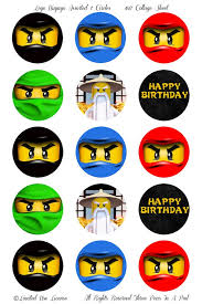 ninjago cake toppers instant lego ninjago assorted ninjas party lego