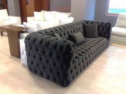 Sofas Chesterfield Style Black Fabric Modern Chesterfield Style Sofa Interior Design