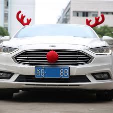 car reindeer antlers 1 set christmas party car decoration windows reindeer deer
