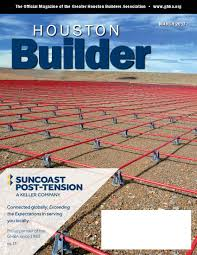 suncoast featured on cover of ghba houston builder magazine