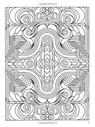 deco tech geometric coloring book john wik coloring books for