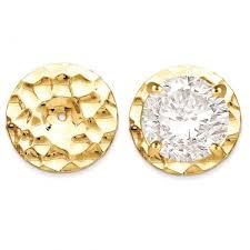 gold disc earrings hammered disc earring jackets in plain metal 14k yellow gold allurez