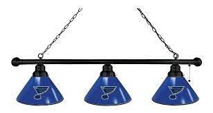 Hockey Scoreboard Light Fixture St Louis Blues 3 Shade Billiard Light