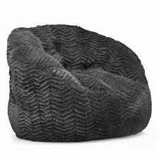 Brown Leather Bean Bag Chair Cocoon Faux Fur Bean Bag Chair Multiple Colors Walmart Com