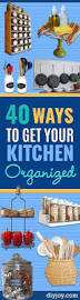 137 best diy kitchen cabinets images on pinterest home kitchen 40 cool diy ways to get your kitchen organized