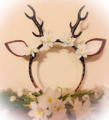 fawn headband faux deer antler costume topper accessories deer