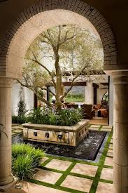 spanish courtyard designs awe inspiring fake indoor trees for home decorating ideas images in