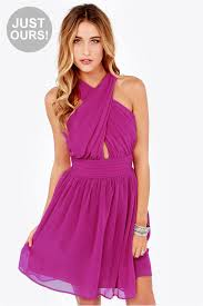 chiffon dress magenta dress halter dress chiffon dress 47 00