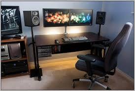 Computer Desk For Two Monitors Computer Desk For Two Monitors Computer Armoire For Dual Monitors