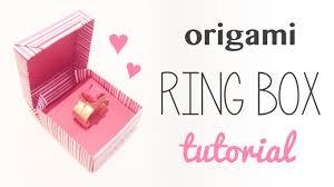 origami ring box instructions diy tutorial youtube