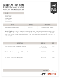 Invoice Template For Designers by Reaction