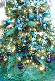 Peacock Blue Christmas Decorations by 11 Best Ombre Trees Images On Pinterest Xmas Trees Christmas