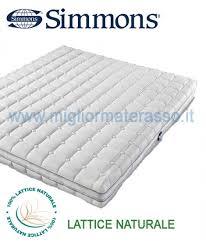 miglior materasso in lattice simmons expression materasso in lattice naturale 160x190 pronta