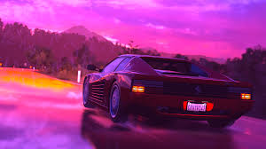 sport cars wallpaper retro wave 4k ultra hd wallpaper and background 3840x2160 id