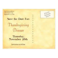thanksgiving save the date postcards zazzle