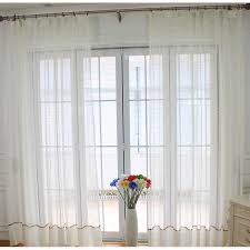 Patterned Sheer Curtains White Patterned Custom Patio Door Sheer Curtains