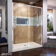 22 Inch Shower Door Dreamline Flex 32in Dx60in W Semi Frameless Shower Door W Center