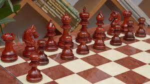 combo of indian chetak ii customized staunton chess set in bud