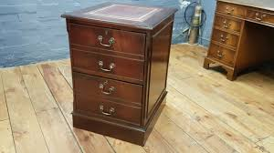 Mahogany Filing Cabinet Antique Reproduction Mahogany Two Drawer Leather Top Wooden