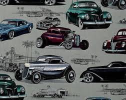 retro cars curtains etsy