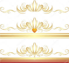 golden ornaments for three frames stock vector teddy2007b 2470095