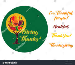 tree set text messages thanksgiving gratitude stock vector