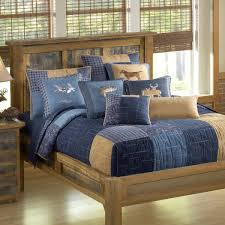 denim square quilted bedding collection