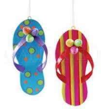 flip flop design hanging ornament 3 75 diameter