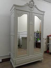 Mirror Armoire Wardrobe Mirrored French Armoire Wardrobe U2013 Forget Me Nots Vintage