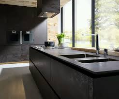 kitchen dark kitchen isloand with kraus sinks and brizo faucets