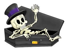 Halloween Skeleton Cartoon Press F To Doot Respects Ledootgeneration