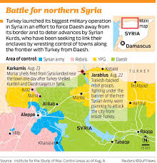 Syria Turkey Map by Turkey Launches Syria Ground Invasion Amid Fight Against Kurds