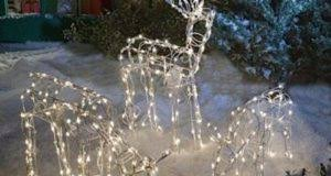 4 white christmas tree decorations merry christmas