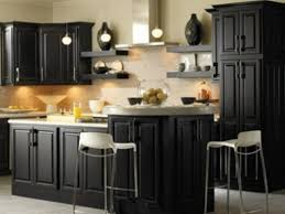 ideas to paint kitchen cabinets how to decorate kitchens with black cabinets my home design journey