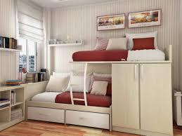 bedroom modern bunk bed idea with polka dots mattresses