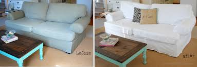 How To Make Sofa Covers Sectional Slipcovers Easy No Sew Drop Cloth Slipcovers On A