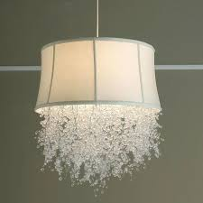 L Shade Chandelier Gorgeous White Drum Shade Chandelier With Crystals Drum L Shades
