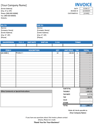 Sales Invoice Template Excel Free Sales Invoice Template Excel Free