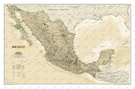 Wall Maps Ngs Mexico Executive Wall Map