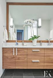 bathroom design chicago modern wooden vanity sleek bathroom design elizabeth krueger