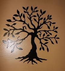 wondrous tree of life metal wall art sculptures home decor life
