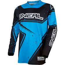 blue motocross gear oneal 2017 new mx element jersey pants gloves black cyan blue