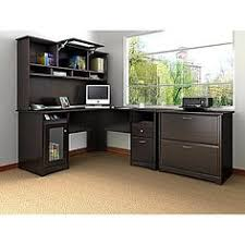 magellan performance collection l desk bush furniture cabot 2 piece espresso oak transitional home office