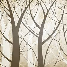 custom classical tree pattern woods wallpaper roll modern