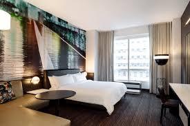 guestroom at marriott brooklyn bridge designed by new york based