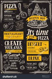 pizza food menu restaurant cafe design stock vector 601991126