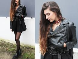claudia holynights made by me tartan choker pepe jeans leather